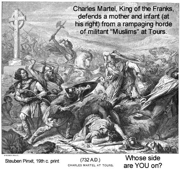 martelle muslim Detail of charles de steuben's bataille de poitiers (musée du château de versailles, france) when charles martel defeated the muslims in 732, he changed the course of history precisely 100 years after the death of the prophet mohammed in 632, his arab followers, after having fought across.